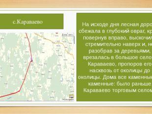 с.Караваево На исходе дня лесная дорога сбежала в глубокий овраг, круто повер