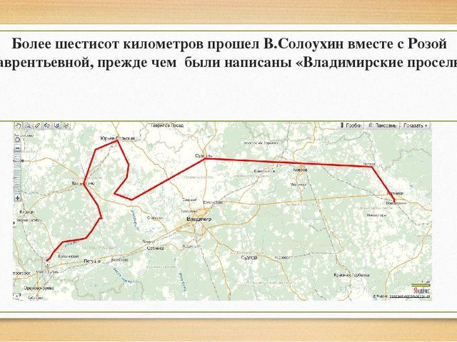 Более шестисот километров прошел В.Солоухин вместе с Розой Лаврентьевной, пр...