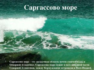 Саргассово море - это загадочная область почти стоячей воды в Северной Атлан