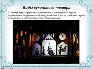 Виды кукольного театра 3. Театр кукол срединных (не верховых и не низовых кук
