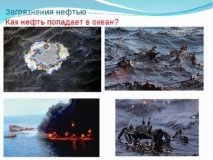 Загрязнения нефтью Как нефть попадает в океан?
