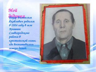 Мой дедушка Бауэр Вильгельм Яковлевич родился в 1924 году в селе Камыши Славг