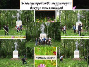 Благоустройство территории вокруг памятников Комары заели