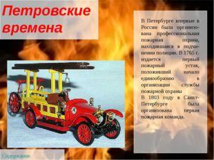 В Петербурге впервые в России была организована профессиональная пожарная ох