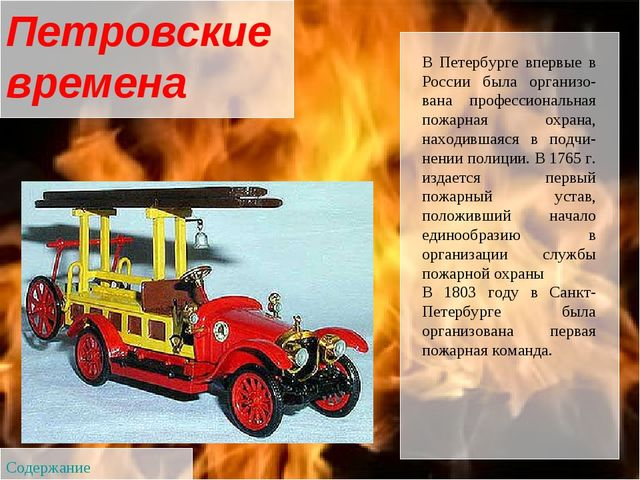 В Петербурге впервые в России была организована профессиональная пожарная ох...