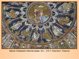 Купол Соборного баптистерия. 451 – 475 гг. Фрагмент. Равенна