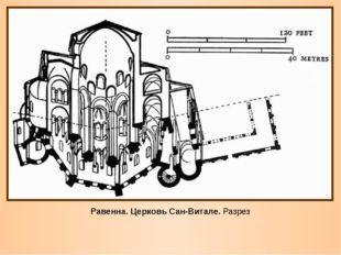 Равенна. Церковь Сан-Витале. Разрез