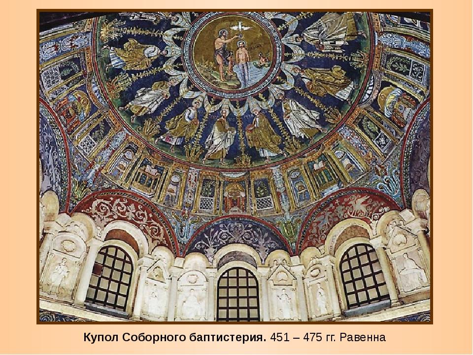 Купол Соборного баптистерия. 451 – 475 гг. Равенна