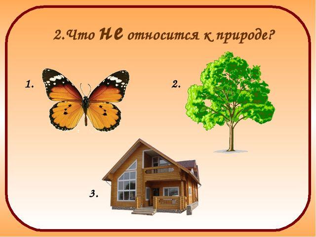 2.Что не относится к природе? 1. 2. 3.