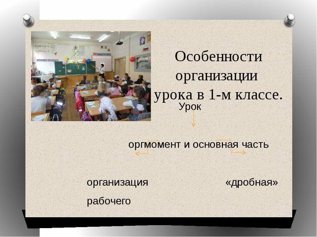 Особенности организации урока в 1-м классе. Урок оргмомент и основная часть о...