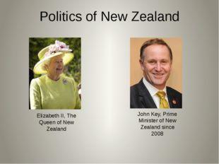 Politics of New Zealand Elizabeth II, The Queen of New Zealand John Key,Prim