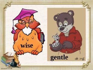 wise gentle