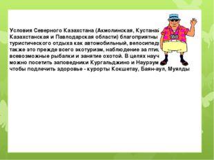 Условия Северного Казахстана (Акмолинская, Кустанайская, Северо-Казахстанска