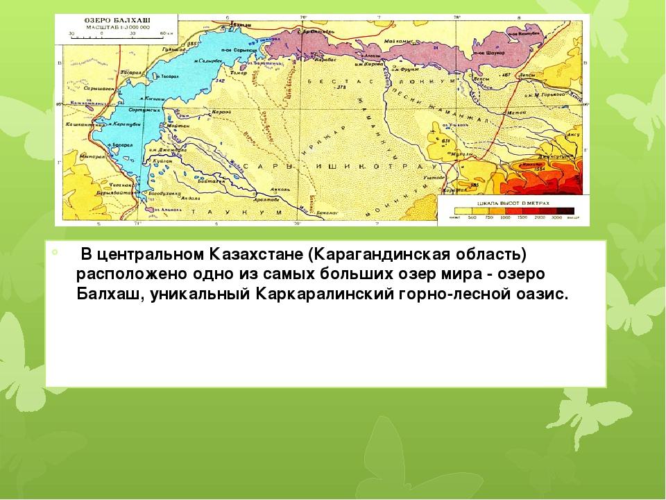 В центральном Казахстане (Карагандинская область) расположено одно из самых...