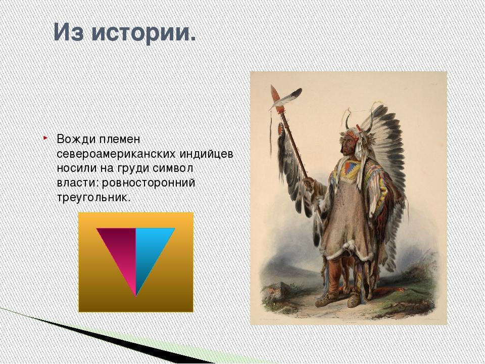 Из истории. Вожди племен североамериканских индийцев носили на груди симво...