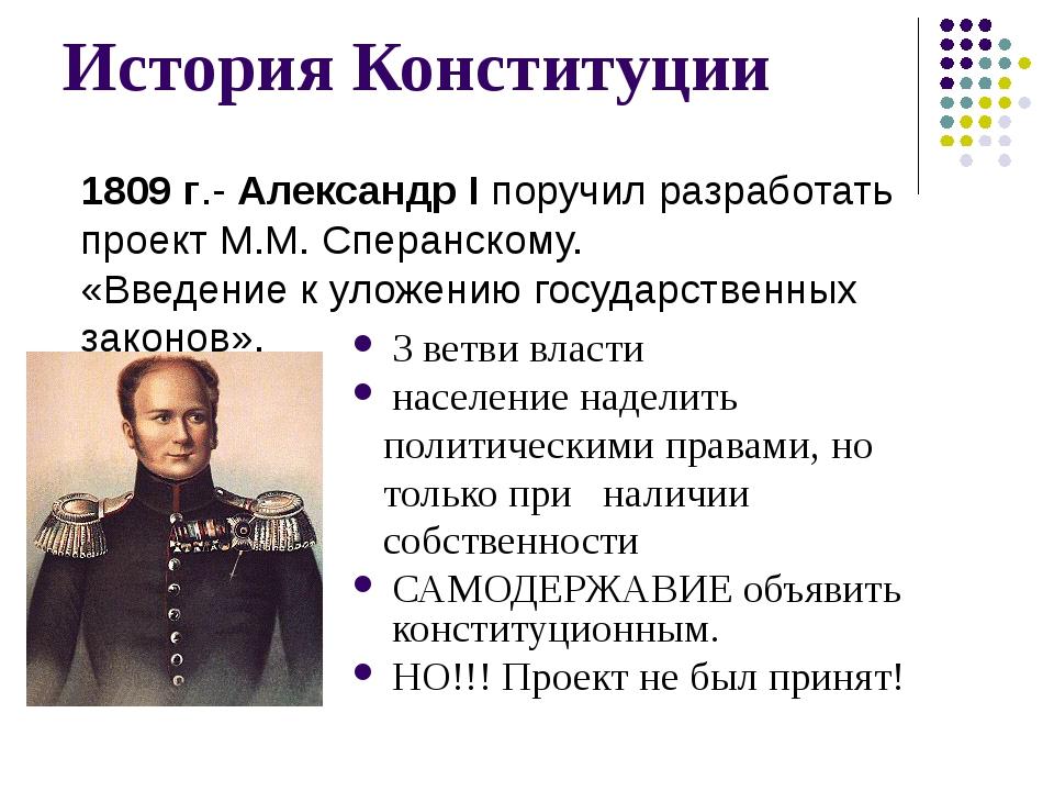 История Конституции 3 ветви власти население наделить политическими правами,...