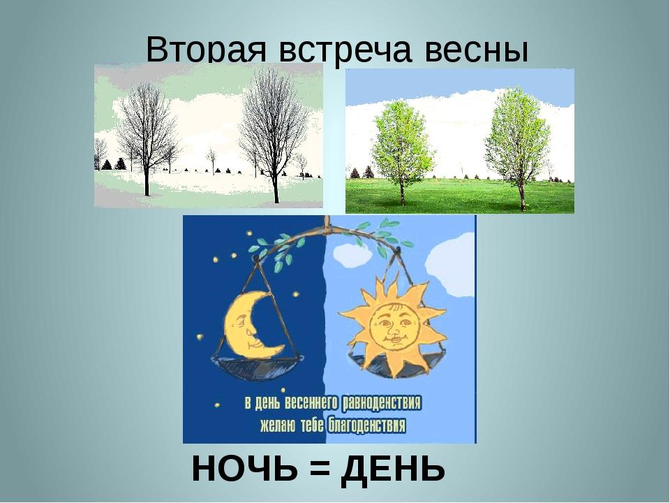 НОЧЬ = ДЕНЬ Вторая встреча весны
