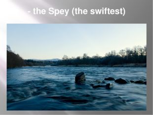 - the Spey (the swiftest)