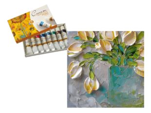 Масло, наверное, самая главная живописная краска, она дает художнику самые бо