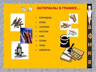 ГРАФИЧЕСКИЕ МАТЕРИАЛЫ - это карандаши, разнообразные мелки, палочки обожженно