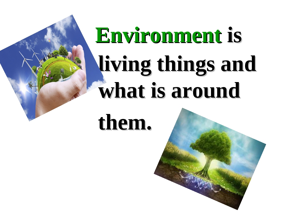 Environment is living things and what is around them.