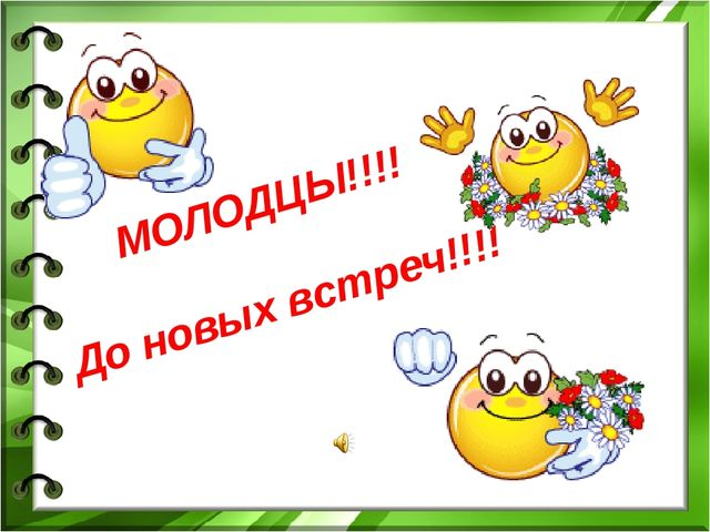 МОЛОДЦЫ!!!! До новых встреч!!!!
