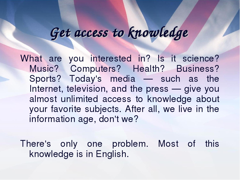 Get access to knowledge What are you interested in? Is it science? Music? Com...
