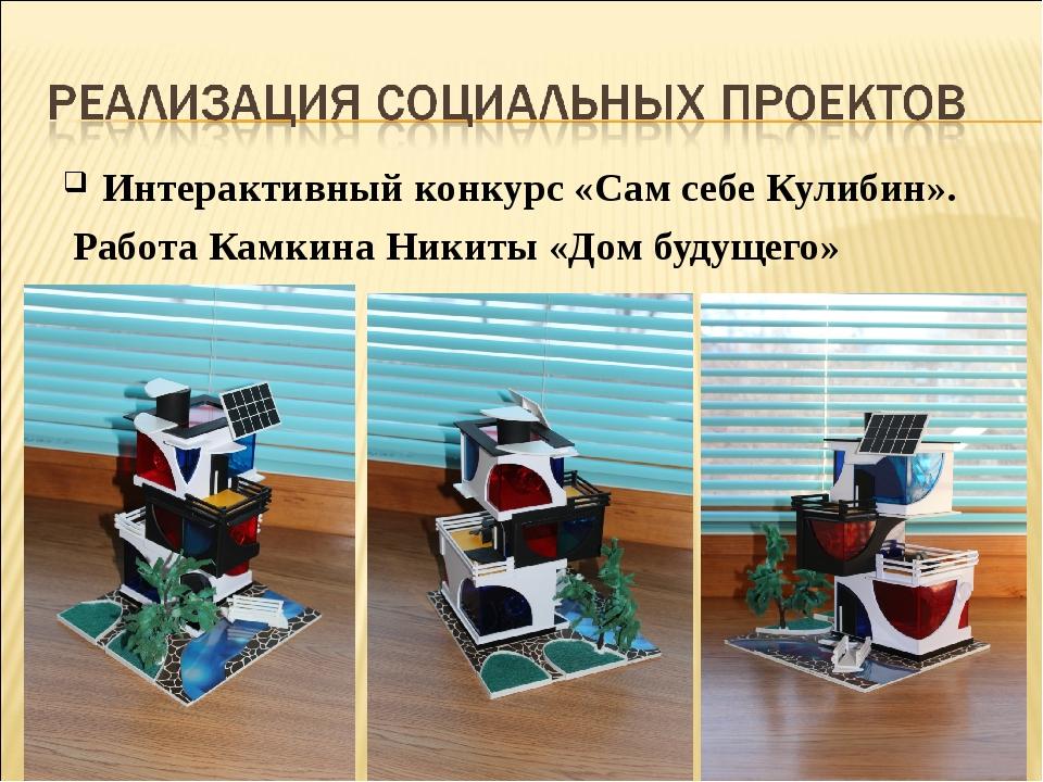 Интерактивный конкурс «Сам себе Кулибин». Работа Камкина Никиты «Дом будущего»