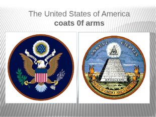 The United States of America coats 0f arms
