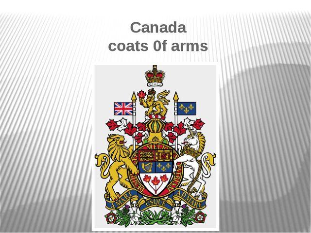 Canada coats 0f arms