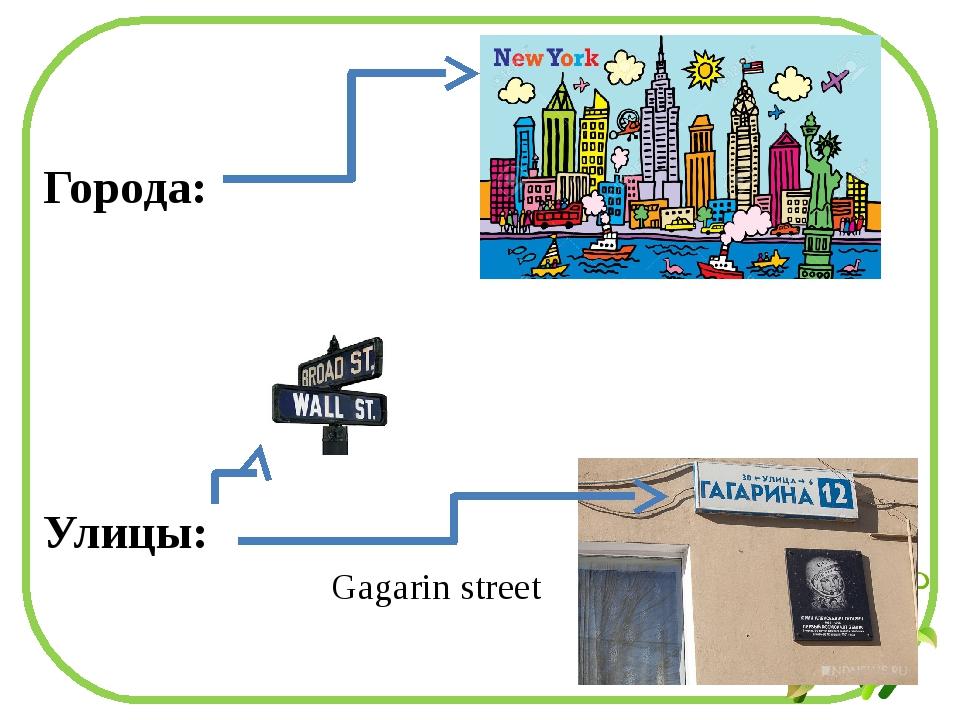 Города: Улицы: Gagarin street