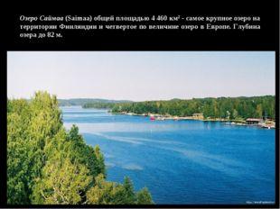 Озеро Саймаа (Saimaa) общей площадью 4 460 км2 - самое крупное озеро на терри