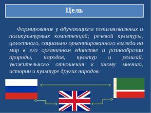 Цель Формирование у обучающихся полилингвальных и поликультурных компетенций;