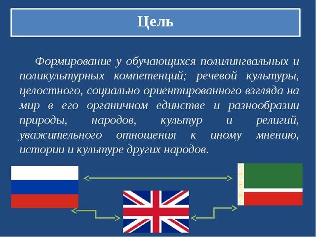Цель Формирование у обучающихся полилингвальных и поликультурных компетенций;...