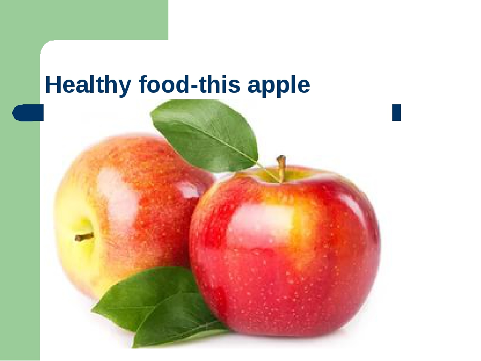 Healthy food-this apple