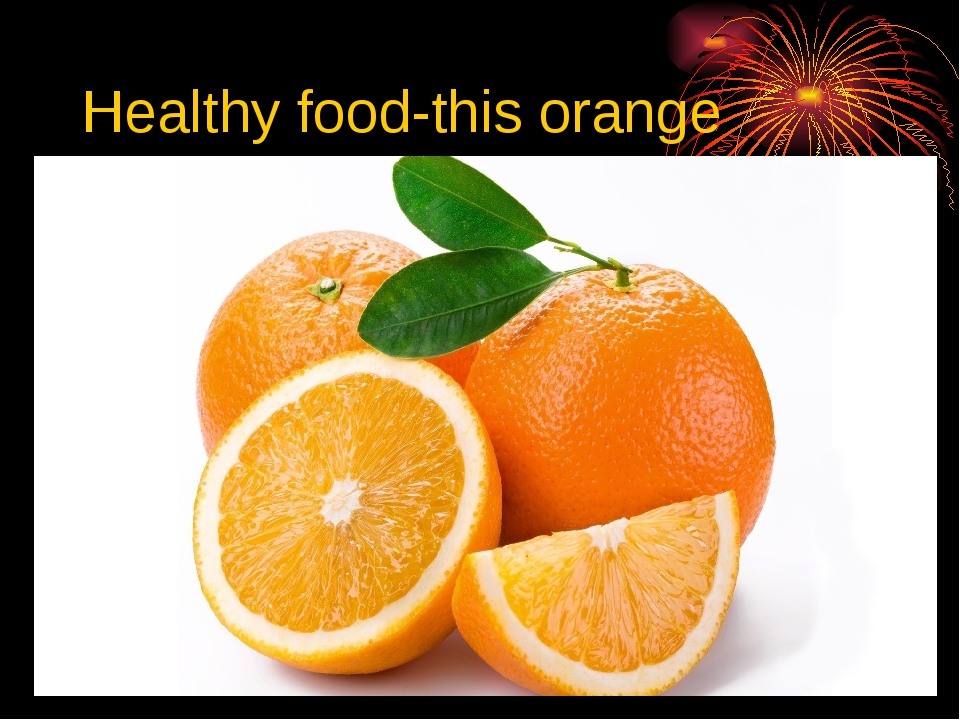 Healthy food-this orange