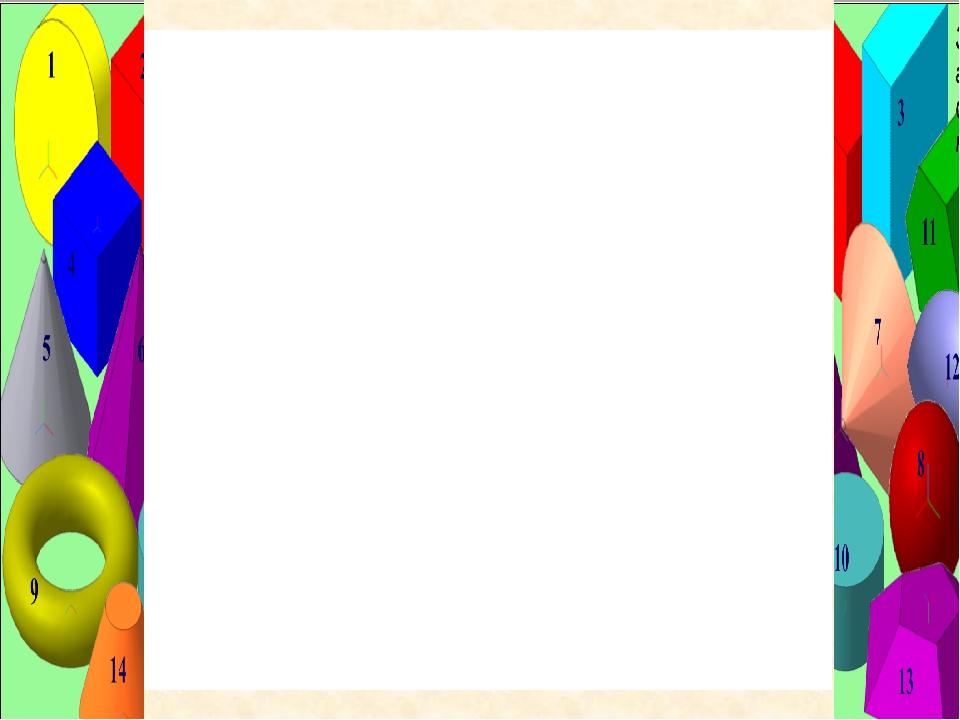 Цели: -Изучение геометрических тел. Построение осей в правильных многогранник...