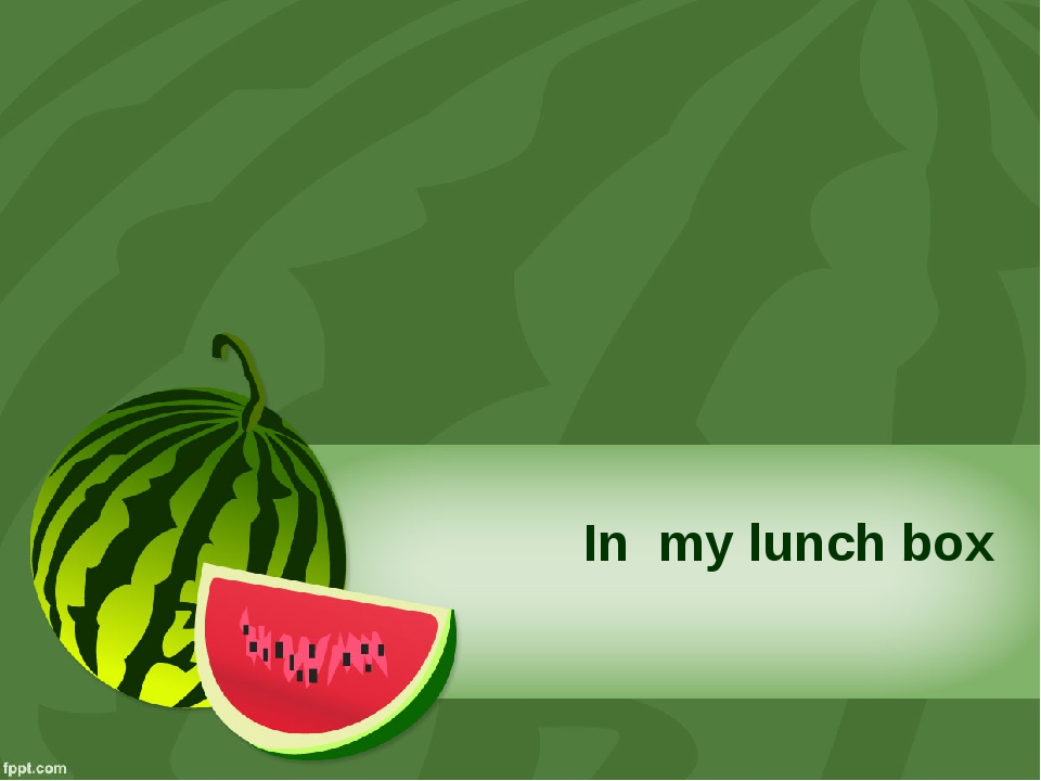 In my lunch box