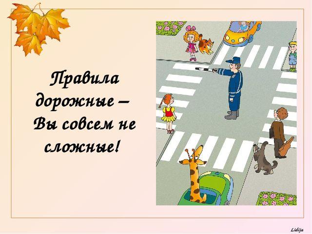 Правила дорожные – Вы совсем не сложные! Lidija