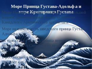 Море Принца Густава-Адольфа и море Кронпринца Густава Море Принца Густава-Адо