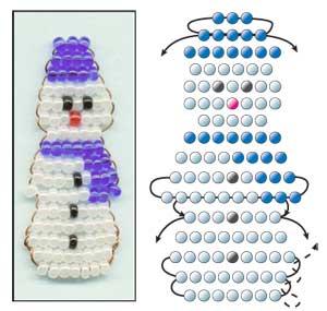 Схемы бисера снеговик