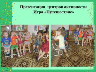 Презентация центров активности Игра «Путешествие» http://linda6035.ucoz.ru/