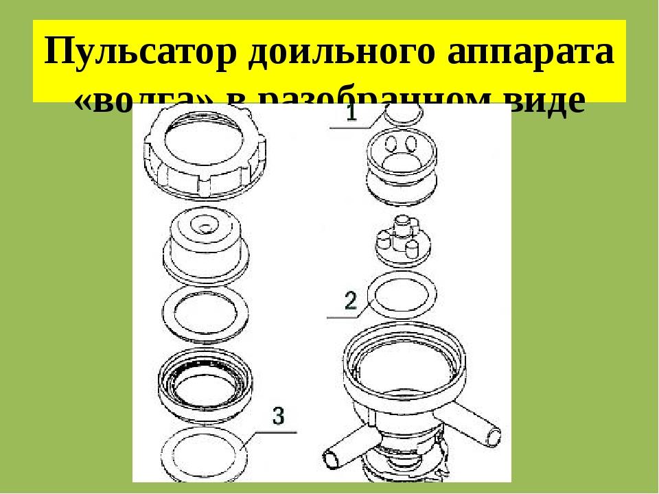 Пульсатор доильного аппарата «волга» в разобранном виде