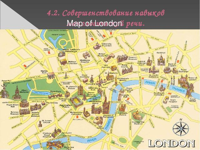 4.2. Совершенствование навыков монологической речи. Map of London