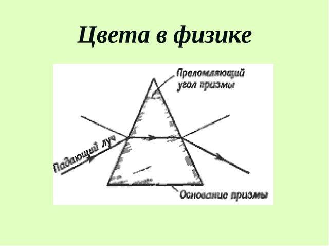 Цвета в физике