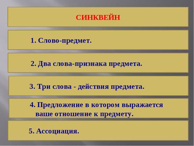 СИНКВЕЙН 4. Предложение в котором выражается ваше отношение к предмету. 3. Тр...