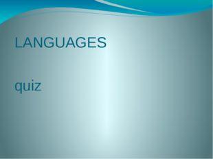 LANGUAGES quiz