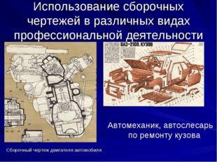 Сборочный чертеж двигателя автомобиля Использование сборочных чертежей в разл