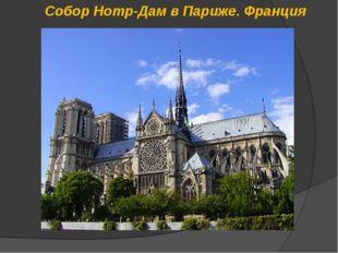 Собор Нотр-Дам в Париже. Франция