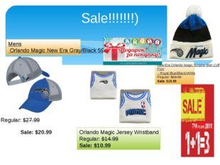 Sale!!!!!!!) Sale:$20.99 Regular:$27.99 Mens Orlando Magic New Era Gray/Bla